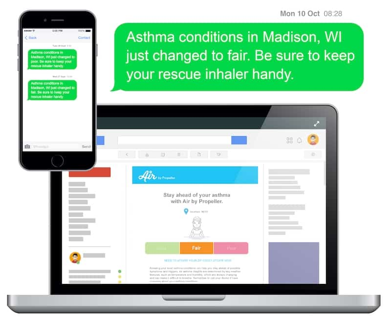 Air by Propeller: Smart health company launches API that predicts local asthma conditions 1 image
