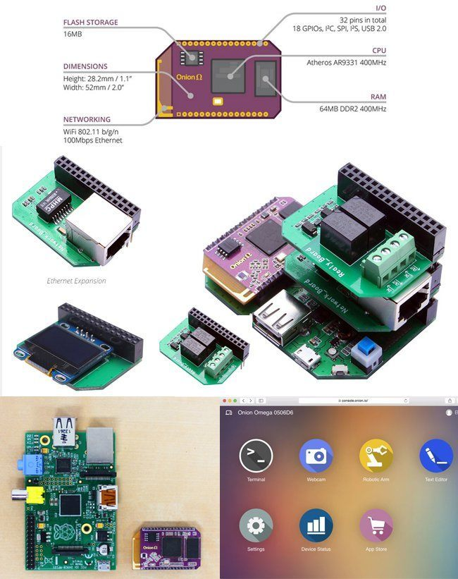 WiFi IoT Prototyping Board: Onion Omega
