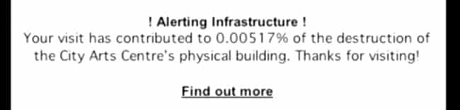 Alerting Infrastruscuture counts physical hits and shows total destruction