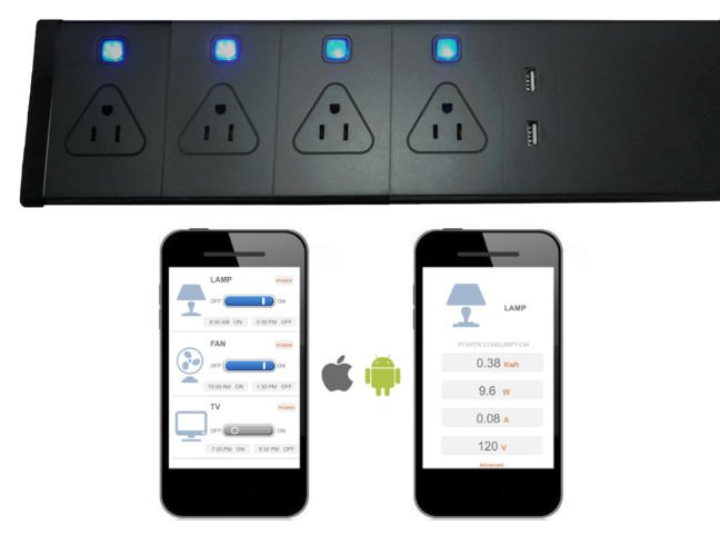 WiFi Power Strip iOS and Android mobile app