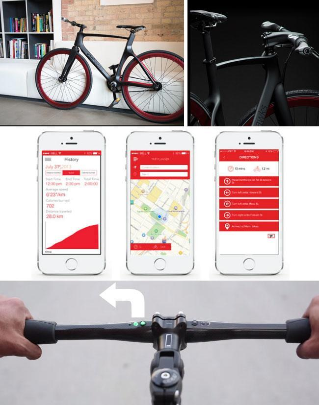 Valour Connected Commuter Bike connects with smartphone