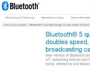 Bluetooth 5 Release Announcement