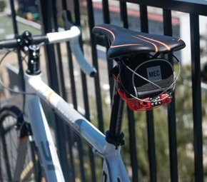 Tracked bike lock