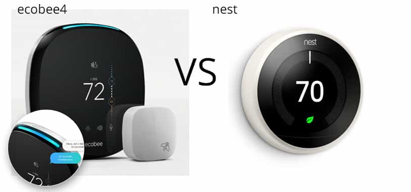 Ecobee vs Nest Graphic