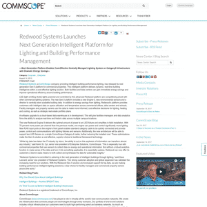 Redwood Systems (Acquired by CommScope) Logo