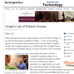 Wash Post and the NYTImes feature Google X, Wifi Lights and the Internet of Things Featured Image